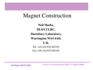 Magnet Construction