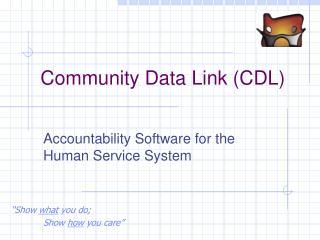 Community Data Link (CDL)