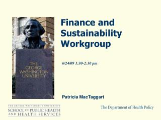 Finance and Sustainability Workgroup