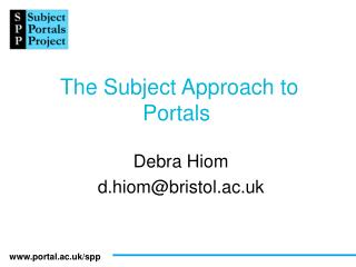 The Subject Approach to Portals