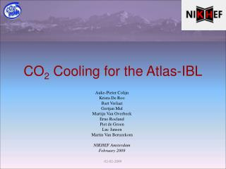 CO 2  Cooling for the Atlas-IBL