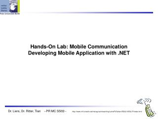 Hands-On Lab: Mobile Communication Developing Mobile Application with .NET