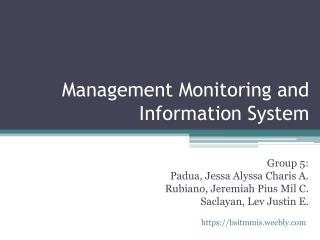 Management Monitoring and Information System