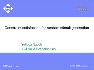 Constraint satisfaction for random stimuli generation