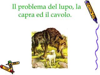 Il problema del lupo, la   capra ed il cavolo.