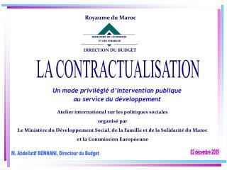 M. Abdellatif BENNANI, Directeur du Budget