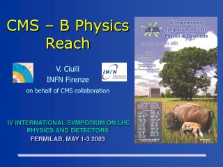 CMS  – B  Physics Reach