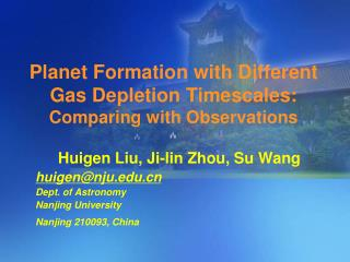 Planet Formation with Different Gas Depletion Timescales: Comparing with Observations