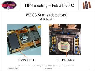 TIPS meeting – Feb 21, 2002