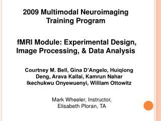 2009 Multimodal Neuroimaging Training Program