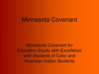 Minnesota Covenant
