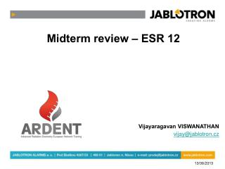 Midterm review – ESR 12