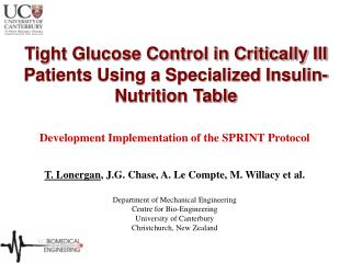 Tight Glucose Control in Critically Ill Patients Using a Specialized Insulin-Nutrition Table