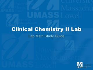 Clinical Chemistry II Lab
