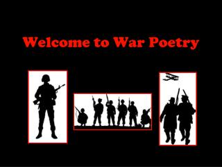 Welcome to War Poetry