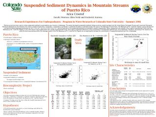 Suspended Sediment Dynamics in Mountain Streams of Puerto Rico