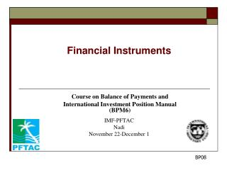 Financial Instruments Course on Balance of Payments and
