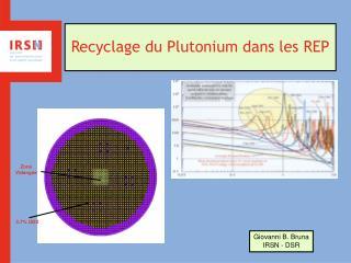 Recyclage du Plutonium dans les REP