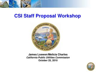 CSI Staff Proposal Workshop