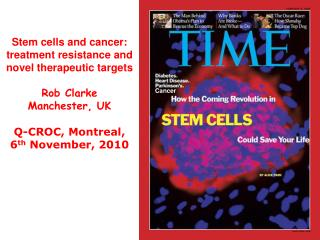 Stem cells and cancer: treatment resistance and novel therapeutic targets Rob Clarke
