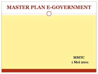 MASTER PLAN E-GOVERNMENT