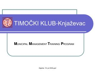 TIMOČKI KLUB-Knjaževac