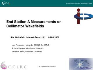 End Station A Measurements on Collimator Wakefields