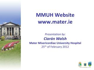 MMUH Website mater.ie