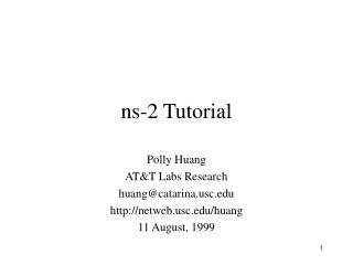 Ns-2 Tutorial