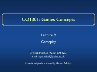 CO1301: Games Concepts