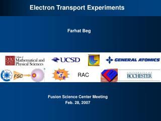 Electron Transport Experiments