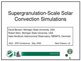Supergranulation-Scale Solar Convection Simulations