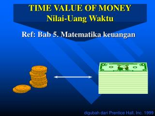 TIME VALUE OF MONEY Nilai-Uang Waktu