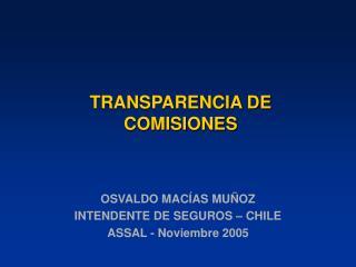 TRANSPARENCIA DE COMISIONES