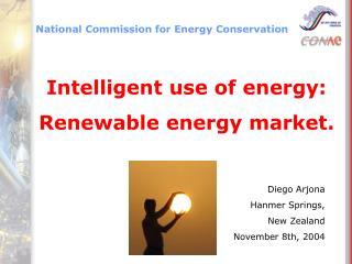 Intelligent use of energy: Renewable energy market.