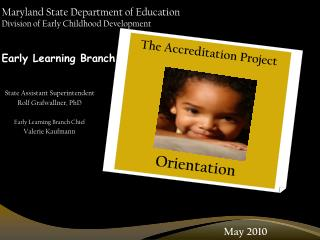 Maryland State Department of Education Division of Early Childhood Development