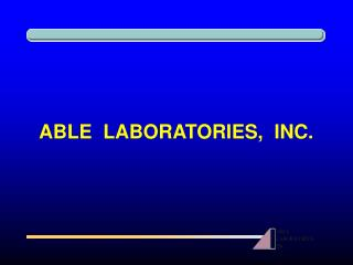 ABLE  LABORATORIES,  INC.