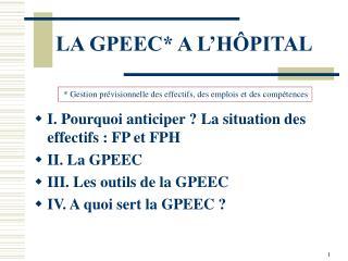 LA GPEEC A L H PITAL
