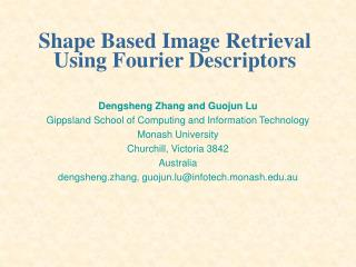 Shape Based Image Retrieval Using Fourier Descriptors