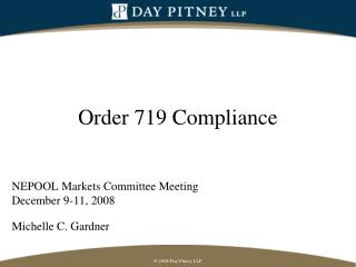 Order 719 Compliance
