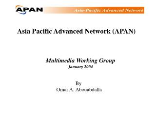 Asia Pacific Advanced Network (APAN)