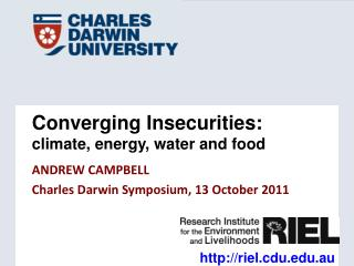 Converging Insecurities:   climate, energy, water and food
