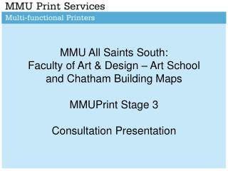Introduction & Recap of MMUPrint at the Faculty of Art & Design: