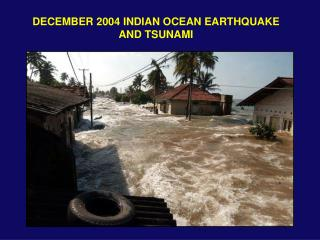 DECEMBER 2004 INDIAN OCEAN EARTHQUAKE AND TSUNAMI