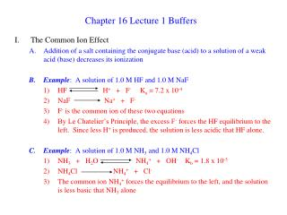 Chapter 16 Lecture 1 Buffers