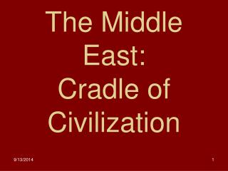 The Middle East: Cradle of Civilization
