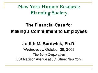 New York Human Resource Planning Society