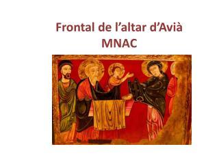 Frontal de l ' altar d ' Avià MNAC