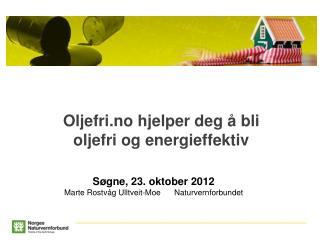 Oljefri.no hjelper deg å bli oljefri og energieffektiv