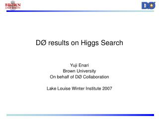 DØ results on Higgs Search